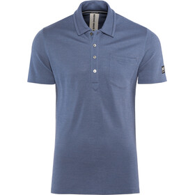 super.natural Comfort Piquet Polo Homme, dark avio